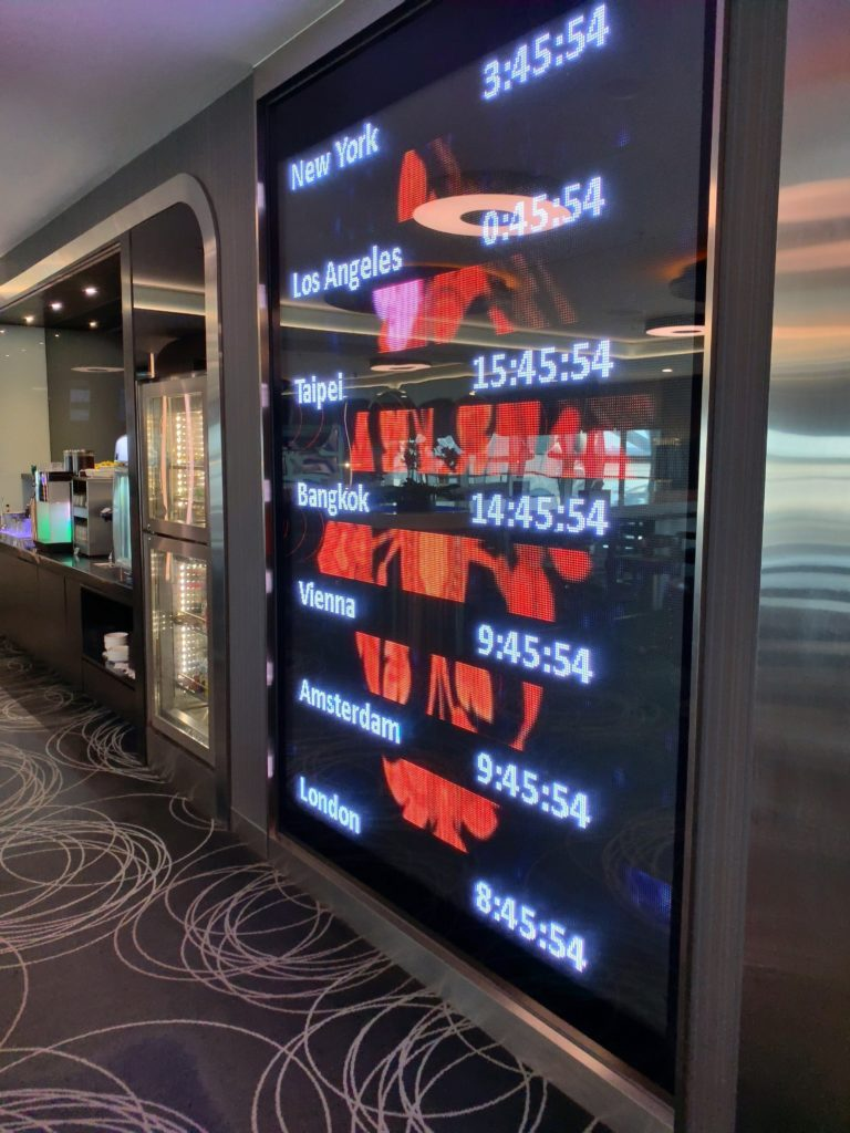 スワンナプーム国際空港エバー航空ラウンジ